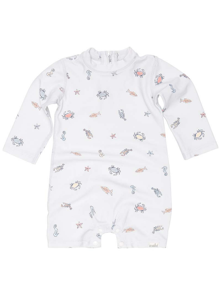 Toshi Swim Onesie Long Sleeve Rock Pool