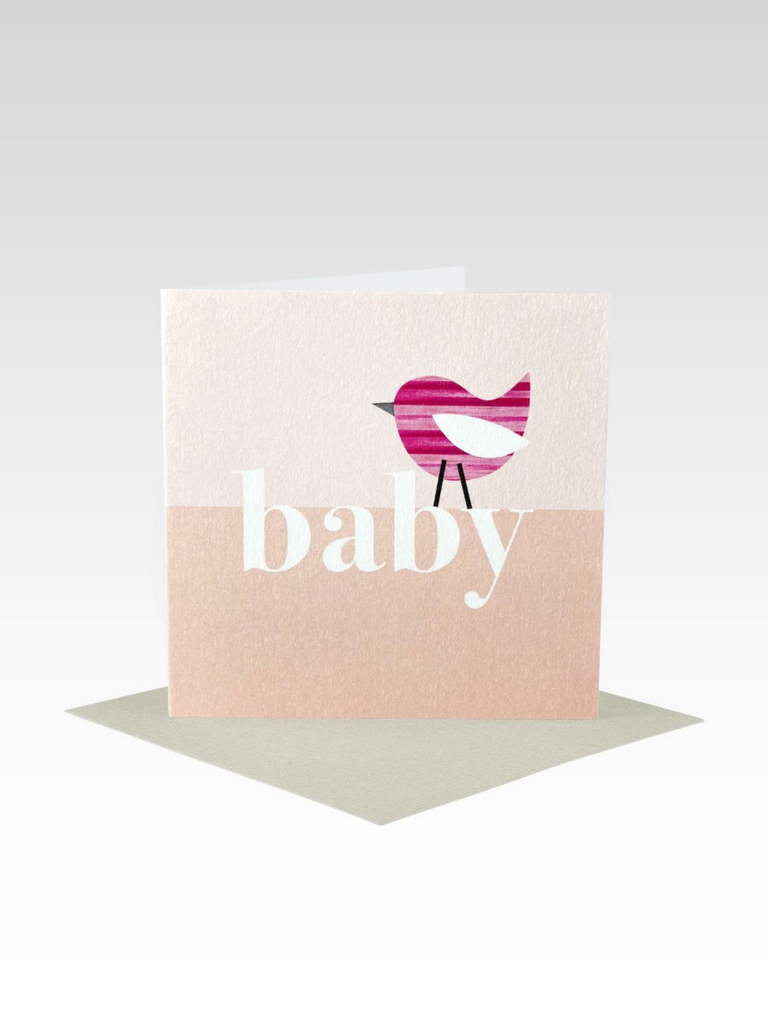 Rhicreative Baby Bird Pink Mini Card