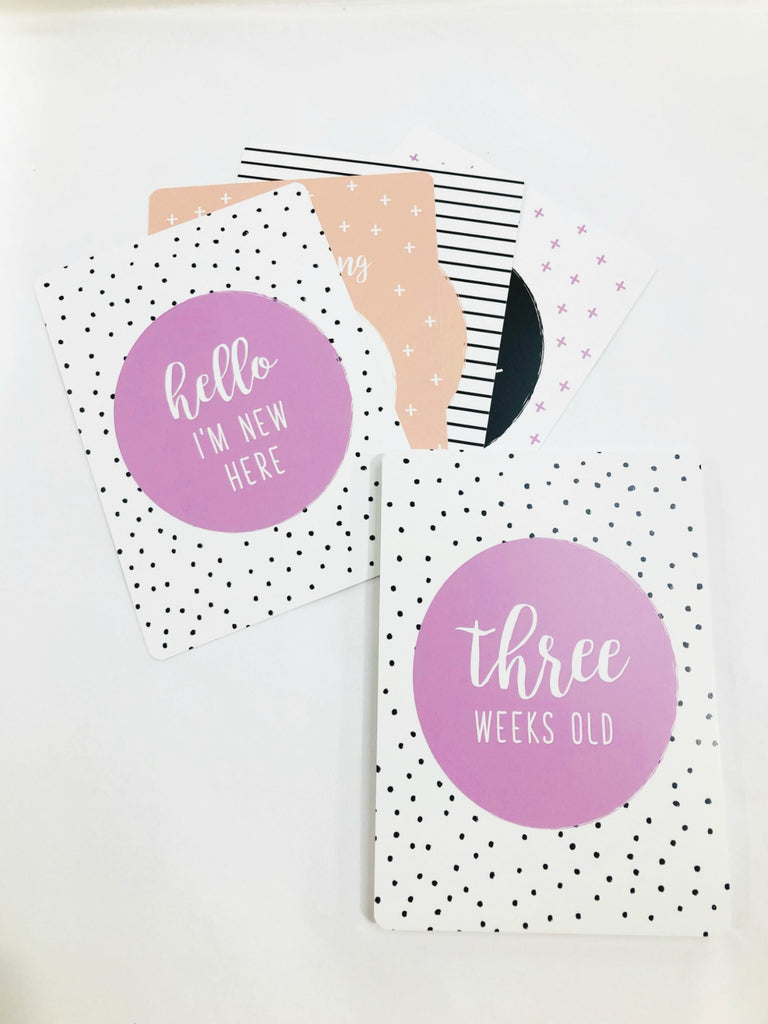 Milestone Cards | Spots + Stripes Fairy Floss
