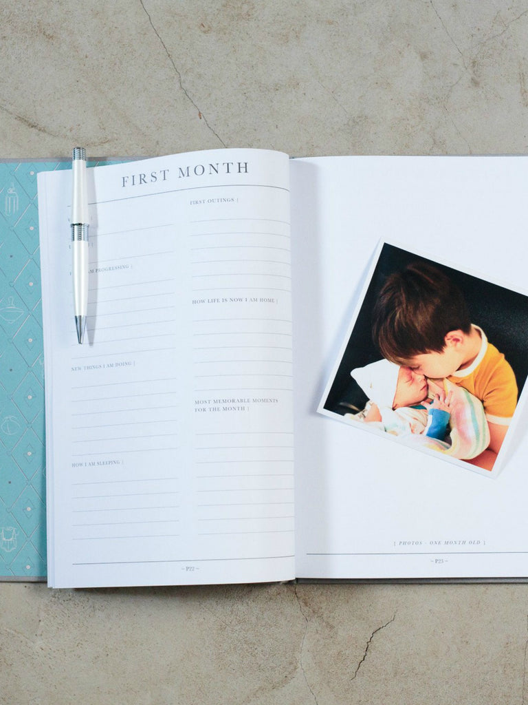 Baby Journal - Birth to Five Years | Grey