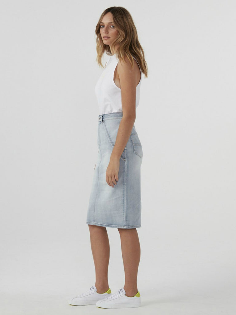 Denim Pencil Skirt | Vintage Wash