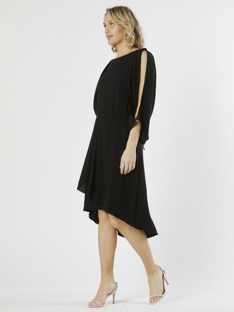Marrakesh Cowl Back Dress | Black Magic