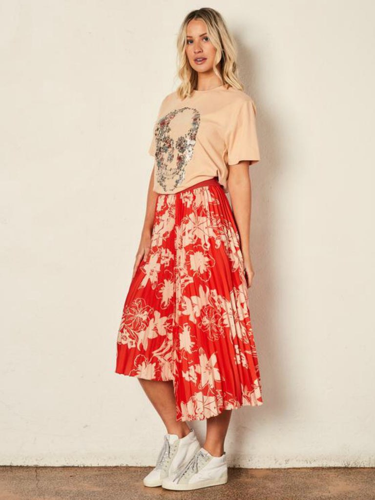 The Bloom Asymmetrical Pleat Skirt