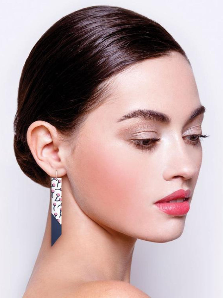 Tulip Bud Helsinki on Amour | Layered Angle Bar Drop Earrings