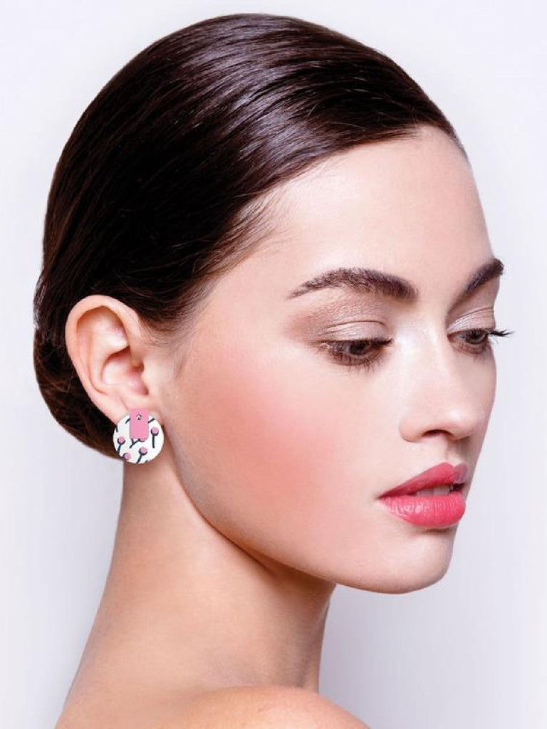 Tulip Bud Helsinki on Amour | Layered Medium Circle Stud Earrings
