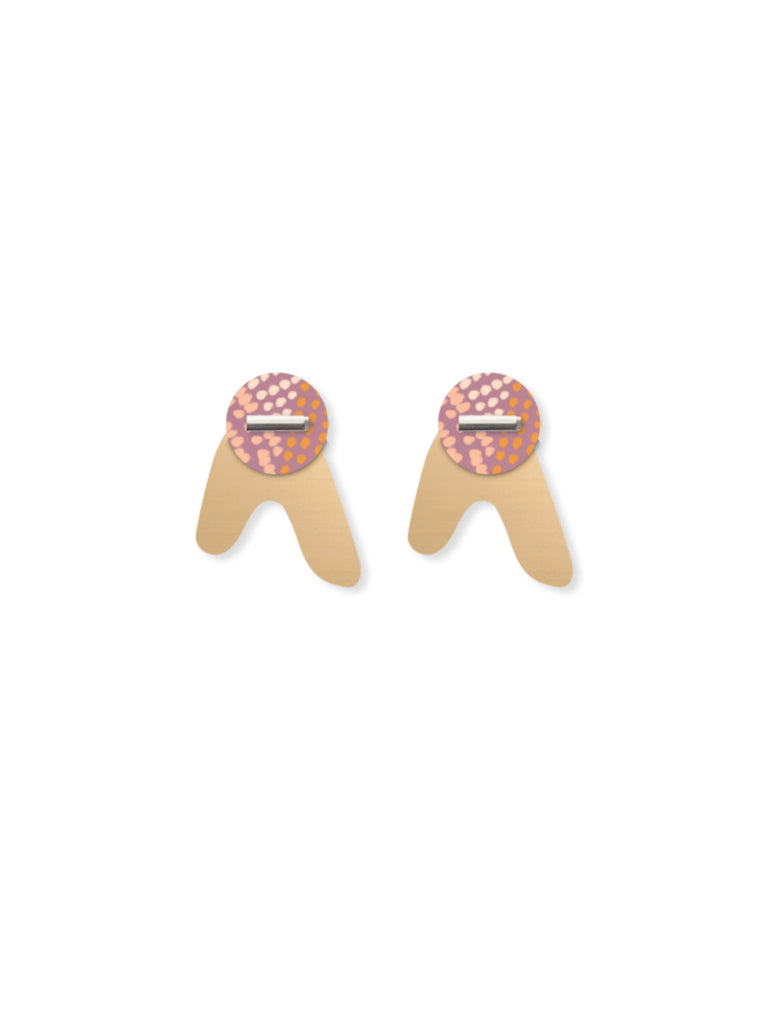Organic Akweke Stories | Layered Arrow Stud Earrings