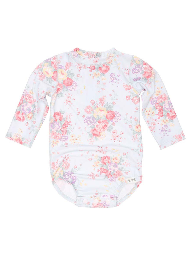Toshi Swim Onesie Long Sleeve Celeste