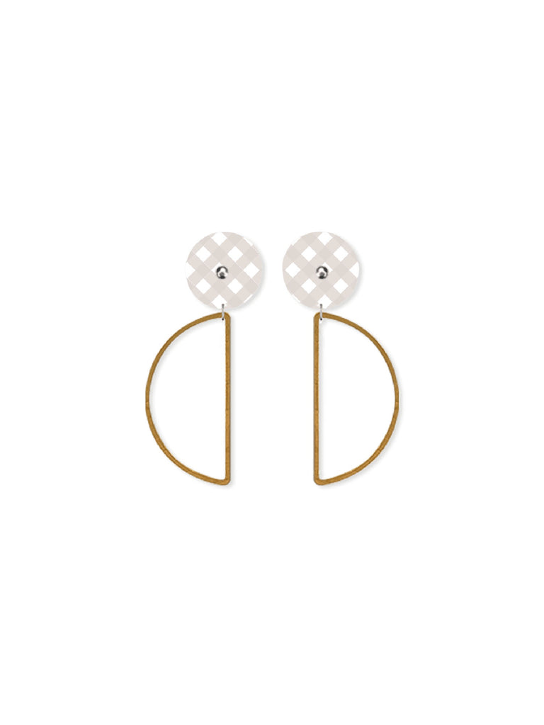 Date Night | Hanging Moon Stud Earrings