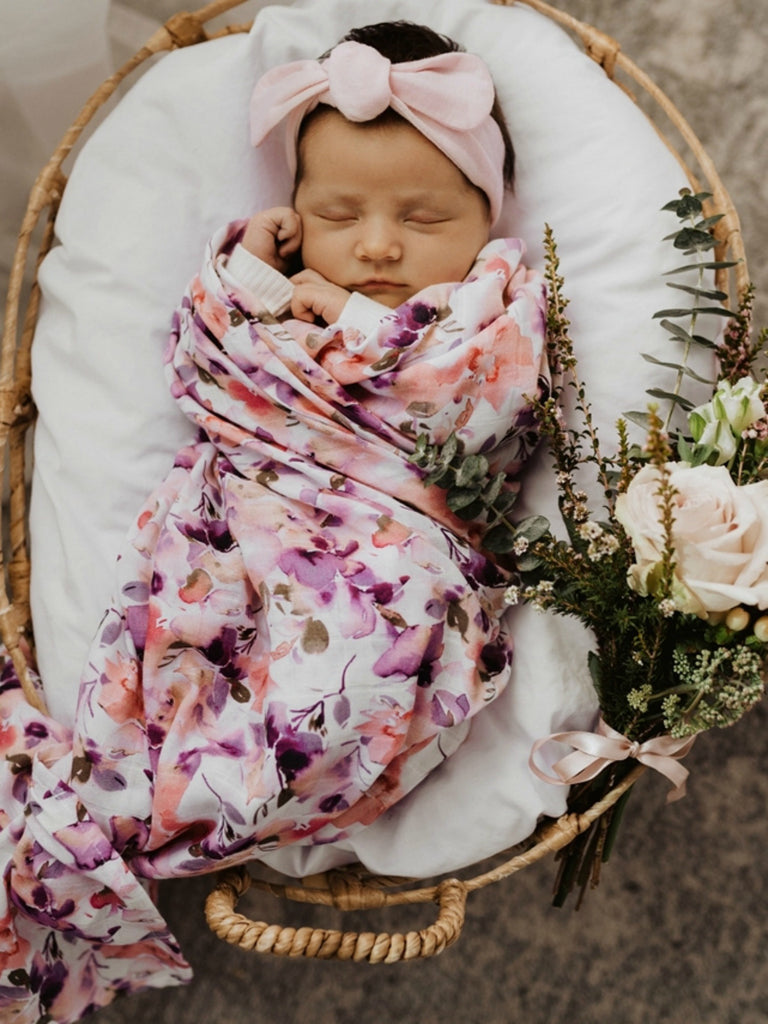 Snuggle Hunny Kids Organic Cotton Muslin Wrap | Blushing Beauty