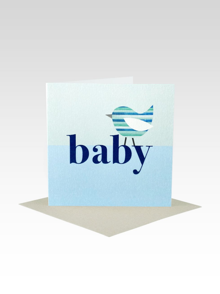 Rhicreative Baby Bird Blue Mini Card