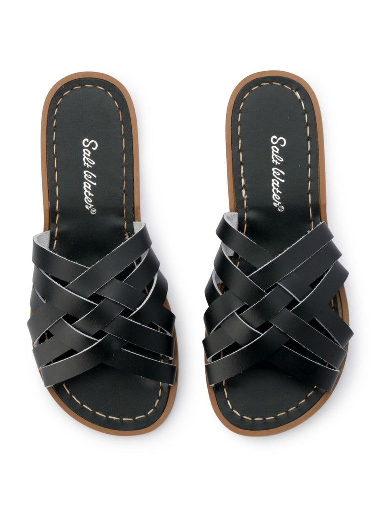Salt Water Sandals Womens | Retro Slides Black