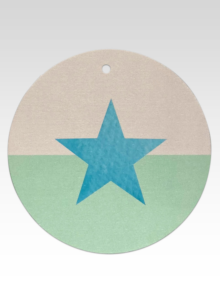 Rhicreative Two Tone Star Gift Tag