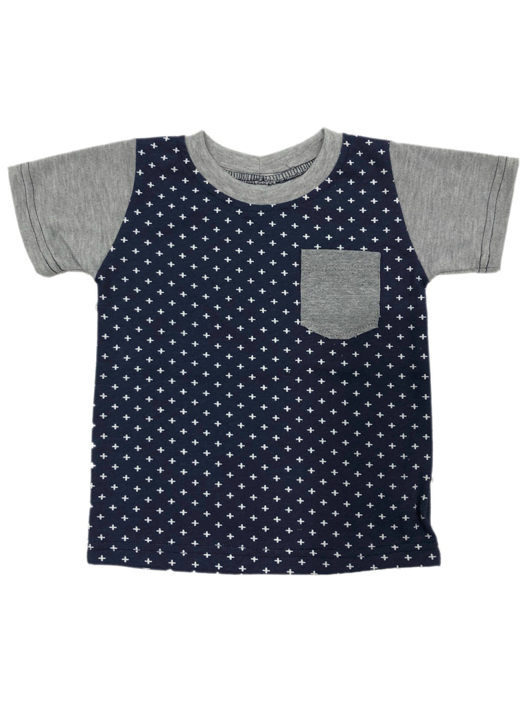 LLT Boys Tee | Raglan Navy Crosses