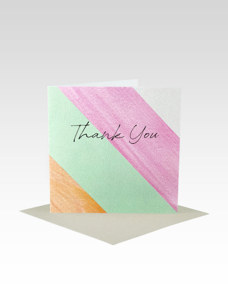 Rhicreative Thankyou Stripe Mini Card