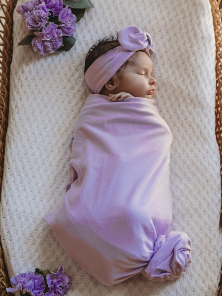 Baby Jersey Wrap & Topknot Set | Butterfly