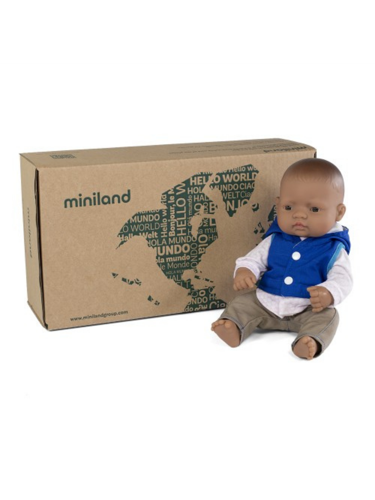 Miniland Doll Latin American Boy and Outfit Boxed (32cm)