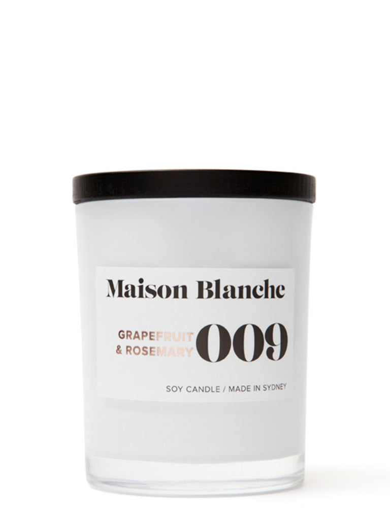 Maison Blanch Medium Candle | 009 Grapefruit & Rosemary