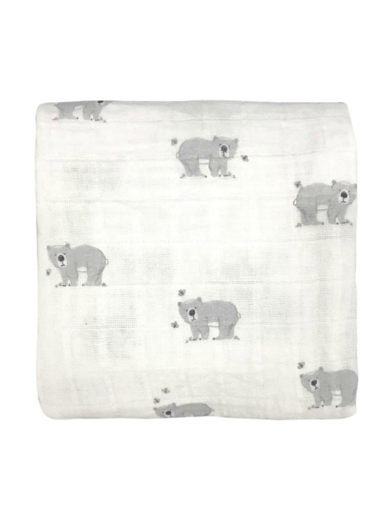 Busy Bear Muslin Wrap