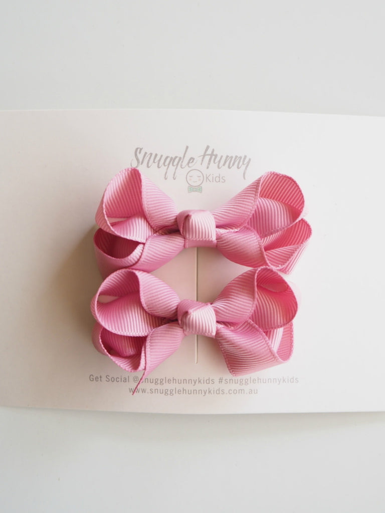 Snuggle Piggy Bow Clip | Dusty Pink