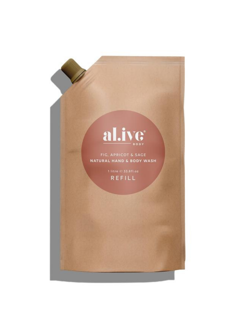 al.ive Fig, Apricot & Sage Hand & Body Lotion Refill