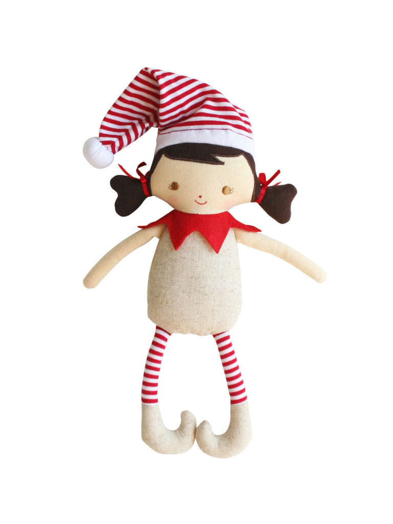 Cheeky Elf Girl Rattle Linen