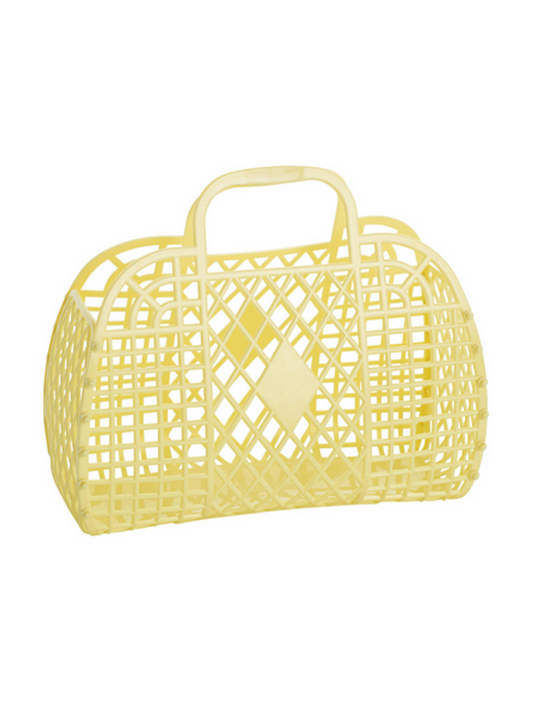 Sun Jellies Retro Basket | Yellow