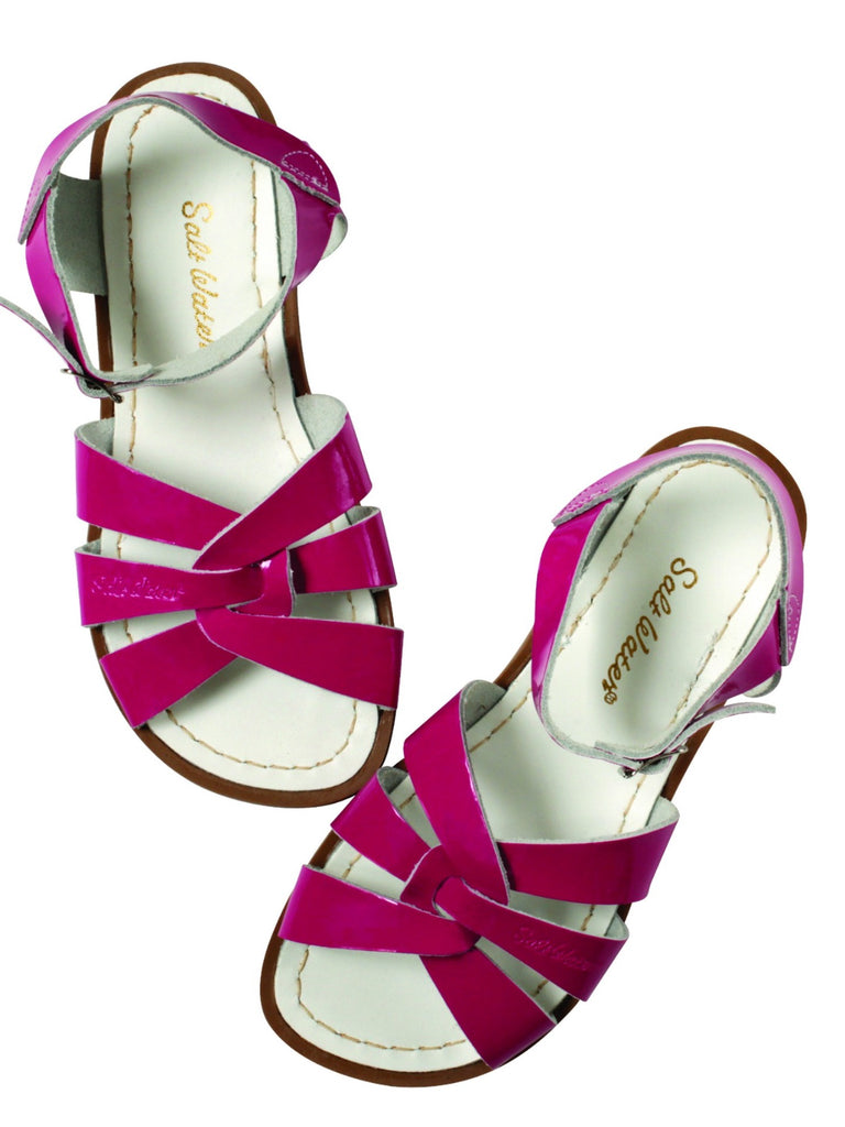 Salt Water Sandals Kids | Shiny Fuschia