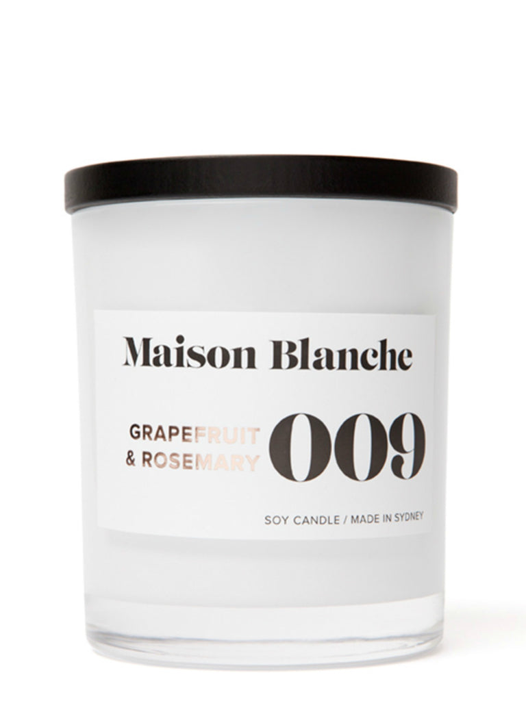 Maison Blanch Large Candle | 009 Grapefruit & Rosemary