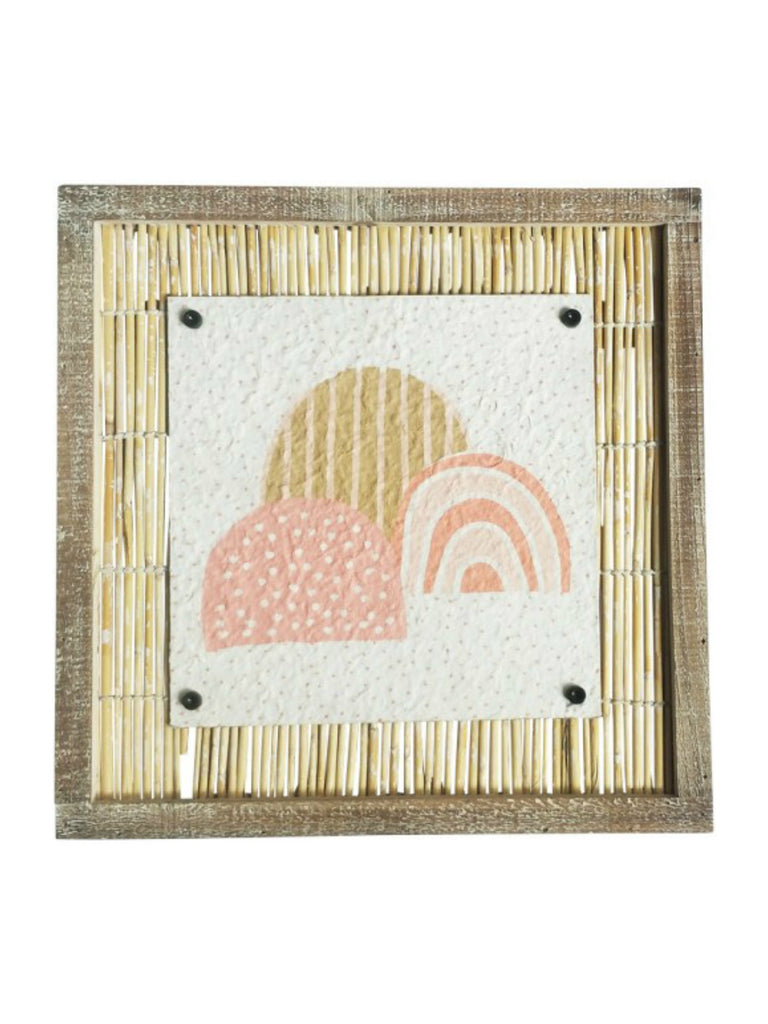 Rainbow Bamboo Wall Art Pink Peach