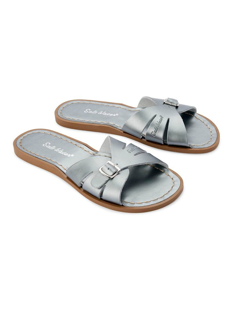 Salt Water Sandals Womens | Classic Slide Pewter