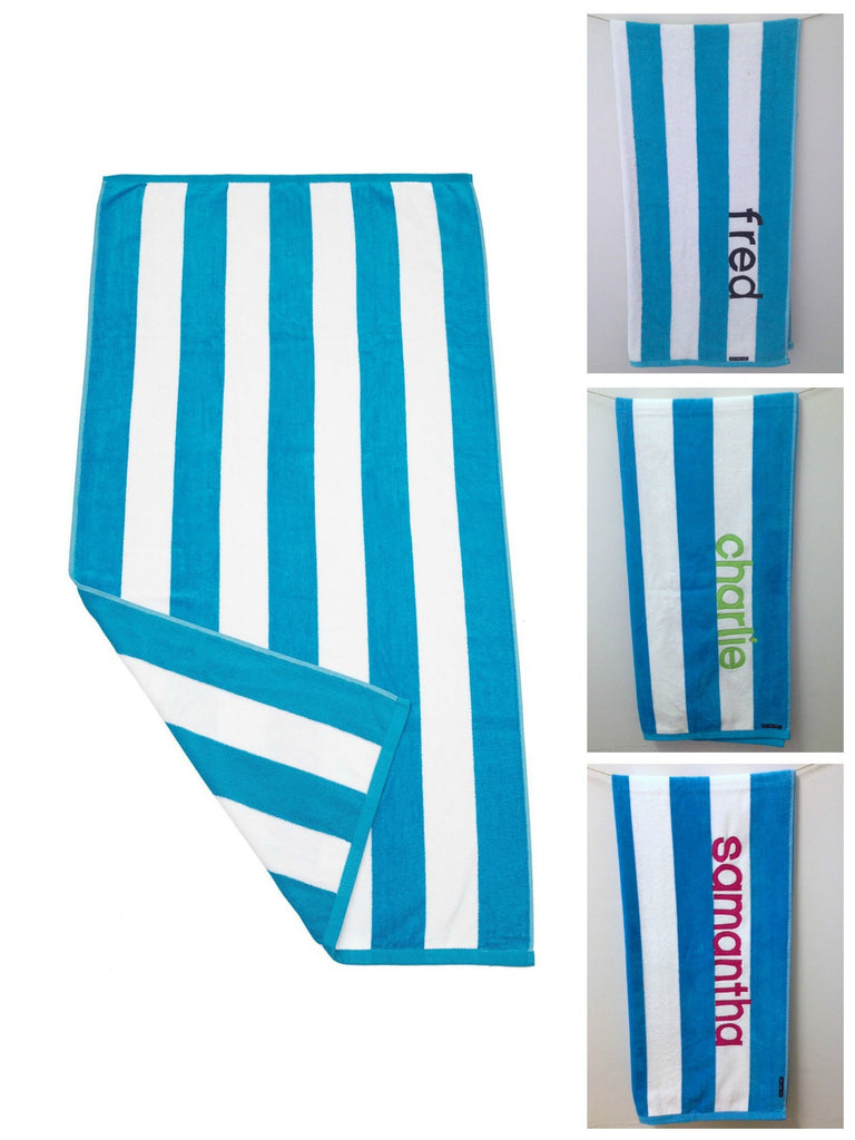 Personalised Beach Towel | Aqua