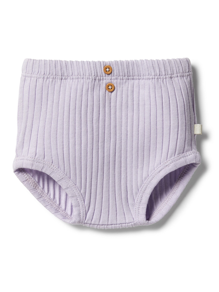 Wilson and Frenchy Lavender Organic Rib Nappy Pant