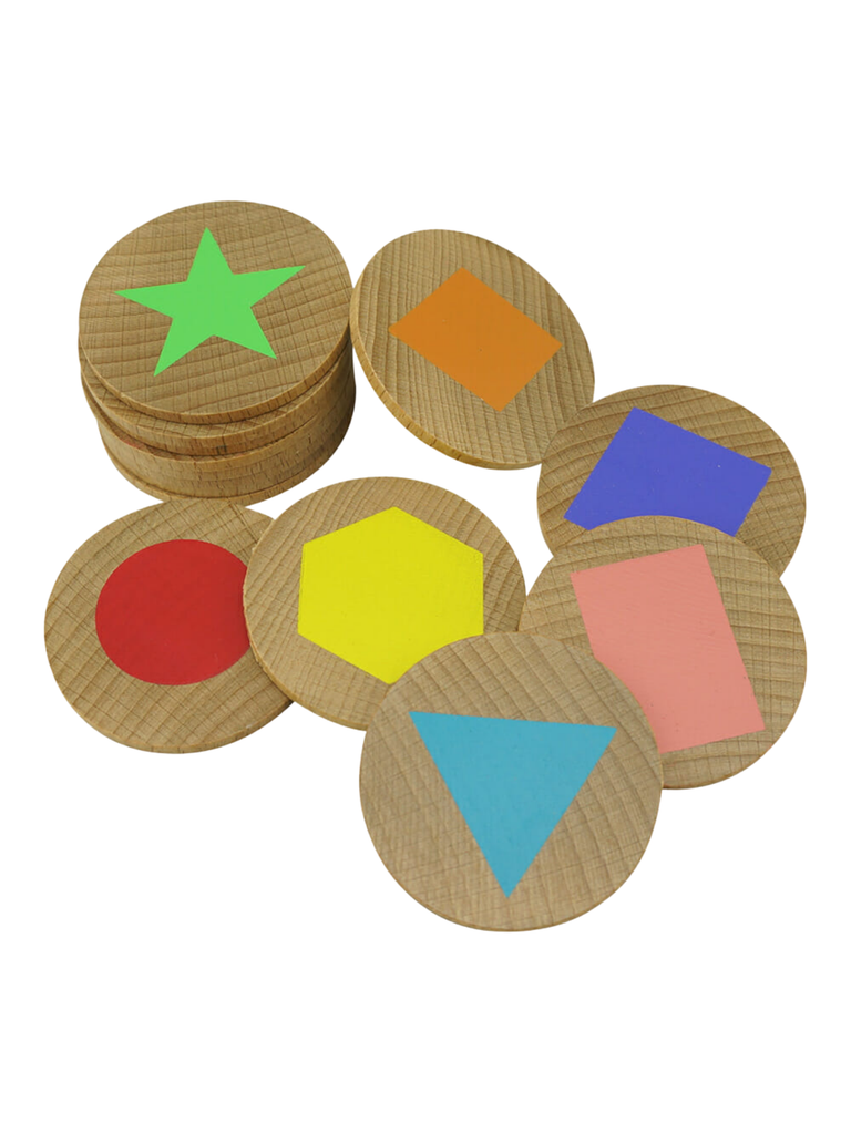 Shapes Wooden Matching Pairs