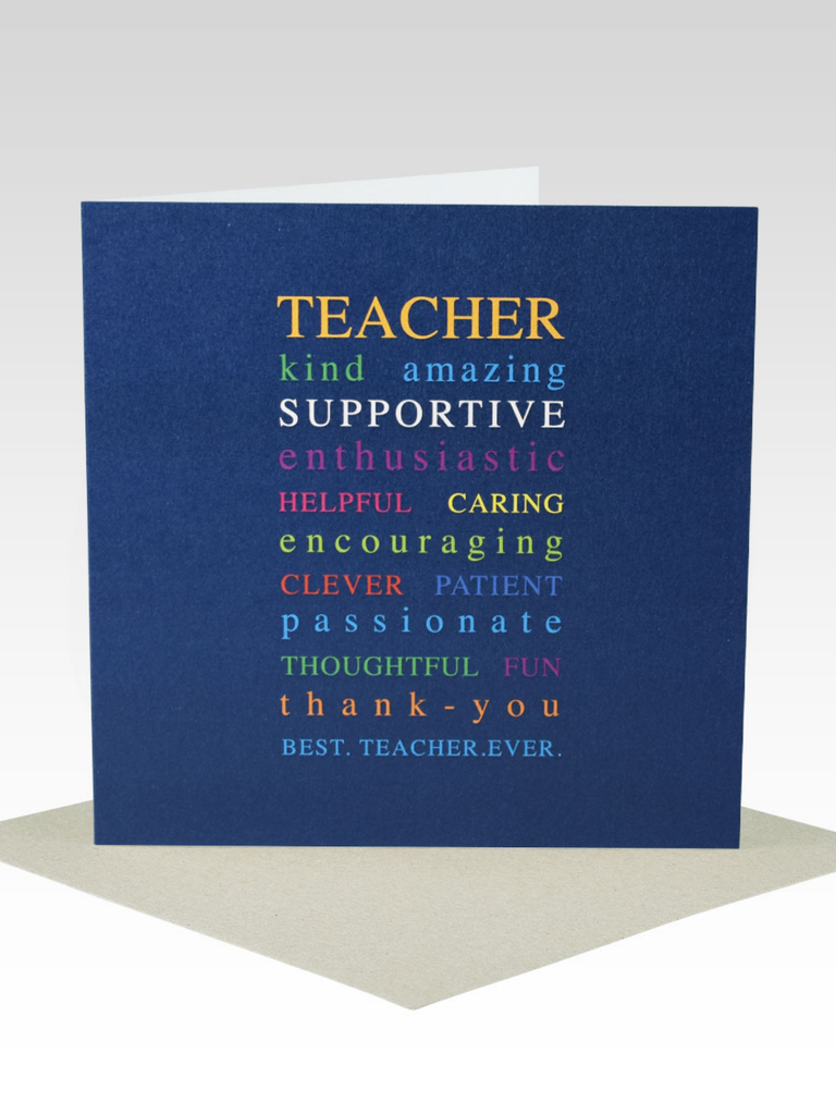 Rhicreative Teacher Card