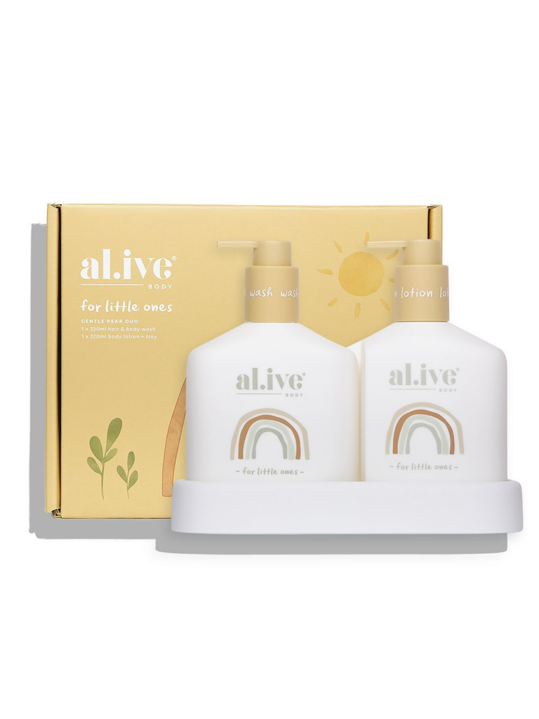 Al.ive Baby Wash & Lotion Duo + Tray | Gentle Pear