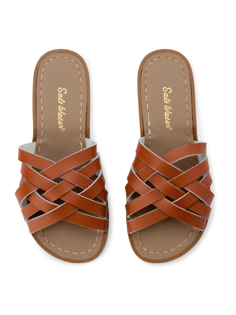 Salt Water Sandals Womens | Retro Slides Tan
