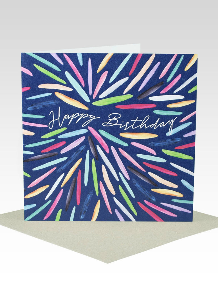 Rhicreative Coloured Petals Birthday Card