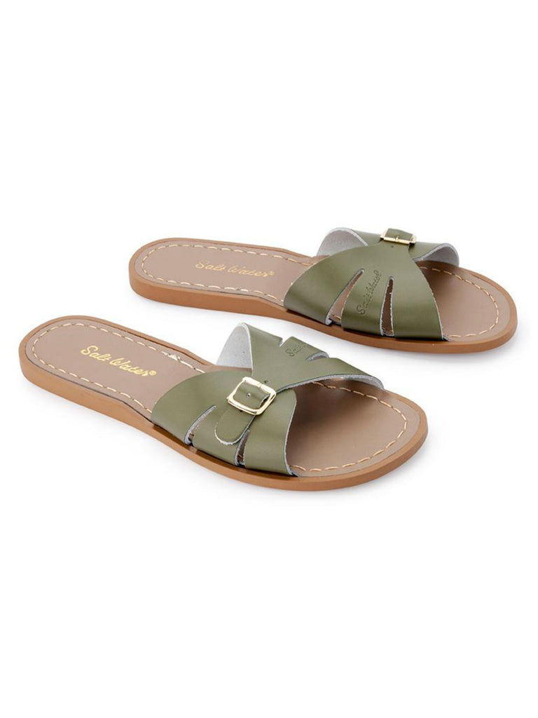 Salt Water Sandals Womens | Classic Slide Olive