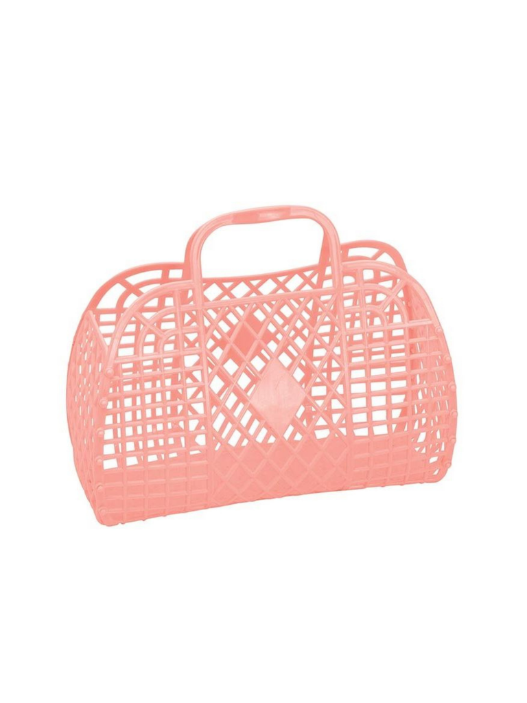 Sun Jellies Retro Basket | Peach