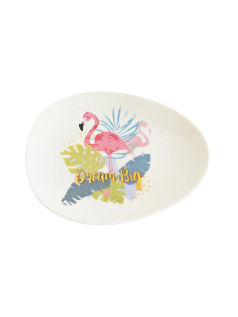 Flamingo Dream Big Trinket Dish