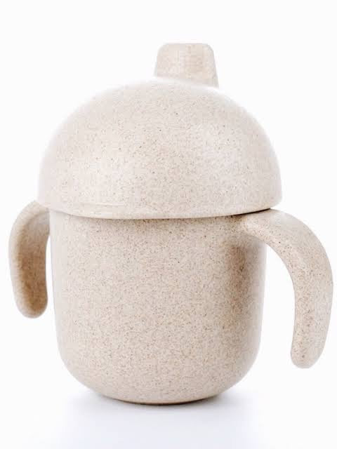 Lion + Lamb The Label Kids Wheat Straw Sippy Cup | Rose