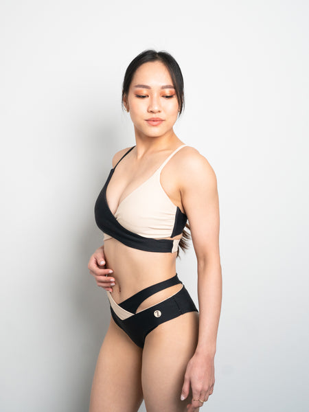 Eclipse Top - Black X Nude