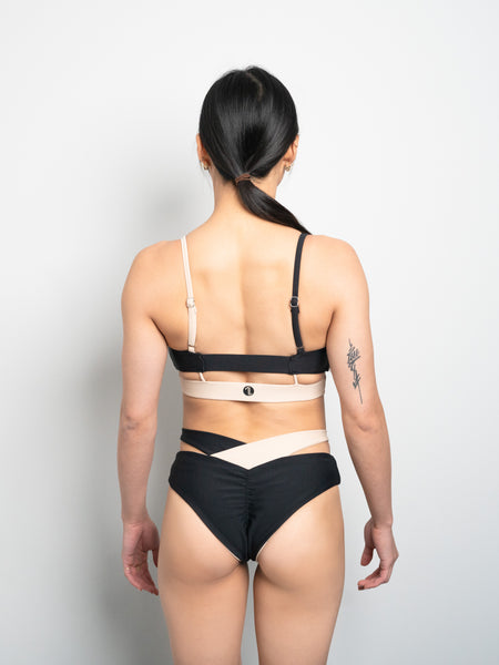 Eclipse Reversible Bottom - Black X Nude