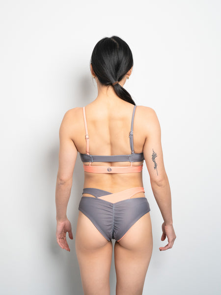 Eclipse Reversible Bottom - Charcoal X Peach