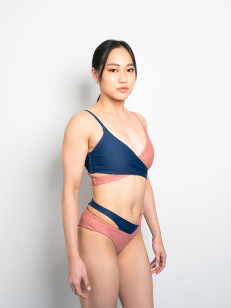 Eclipse Reversible Bottom - Navy X Blush