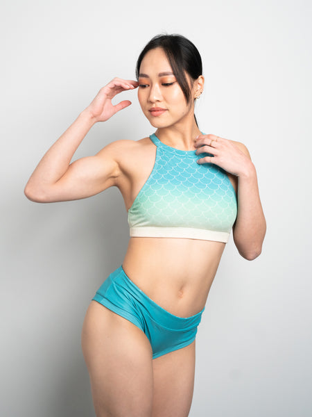 Mermaid Top - Turquoise Ombré