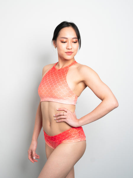 Mermaid Top - Living Coral
