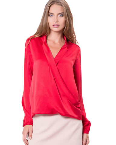 Flatiron Blouse Red
