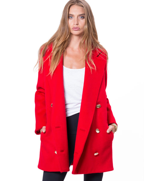 Soho Coat Red