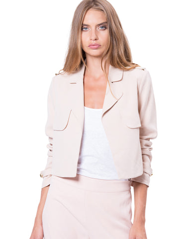 Downtown Crop Trench Nude